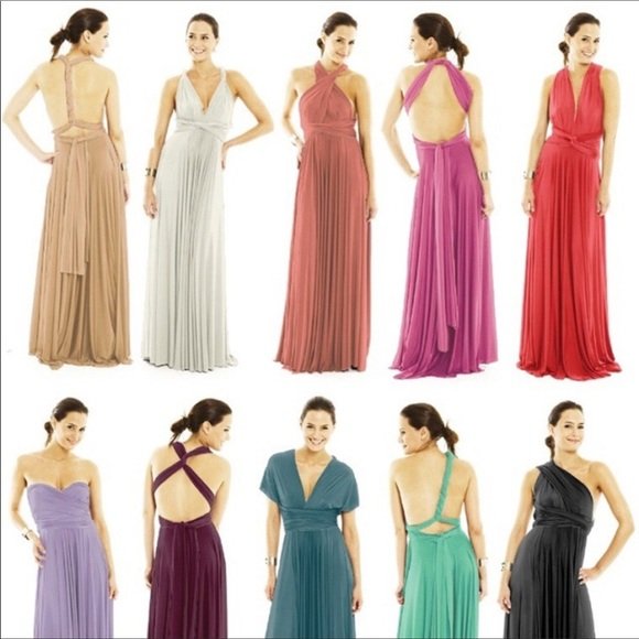 special price for custom buying new Multi Way To Tie Maxi Dress NWT